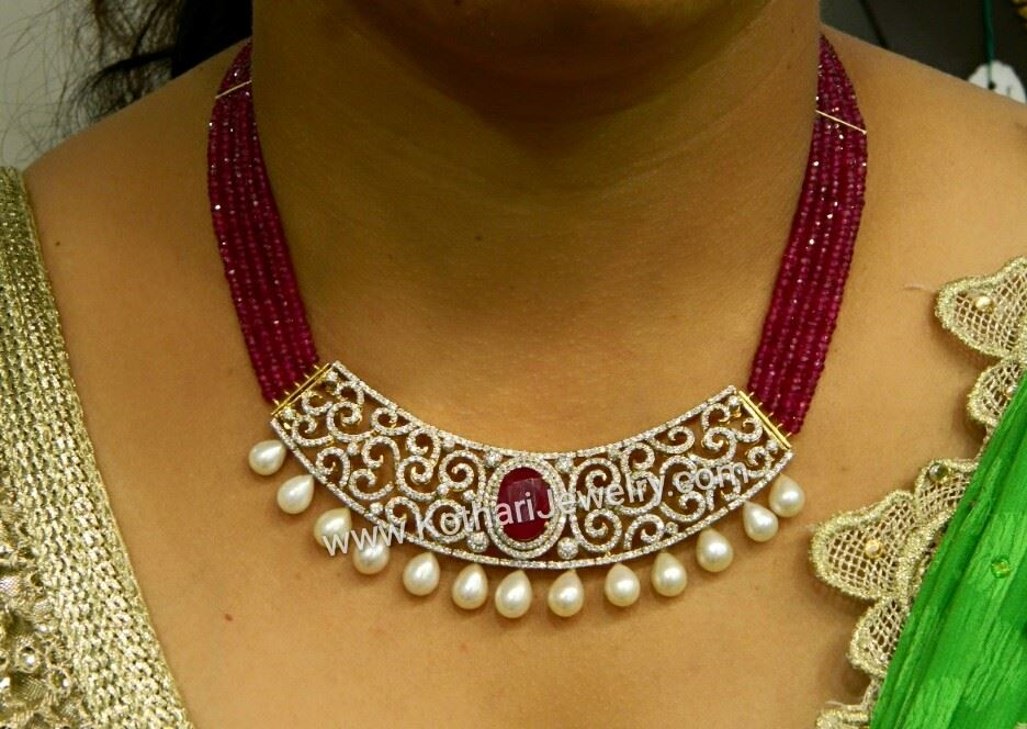 Gold And Diamond Necklace India