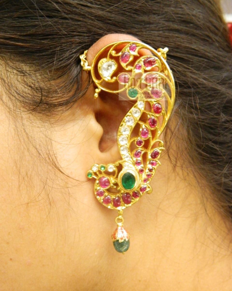Earrings Jhumkis Chandbali Gold Jewellery