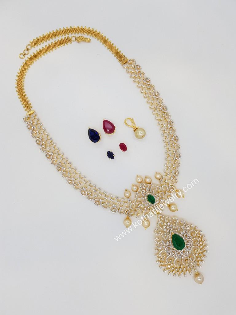 Traditional South Indian Diamond Haram