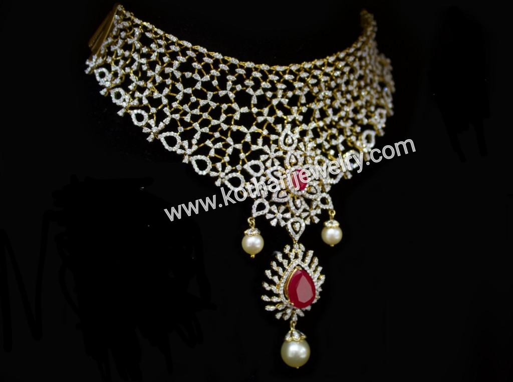 Bridal Heavy Diamond Necklaces