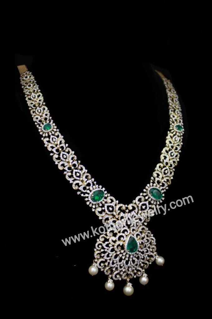South Indian Traditional Diamond Haram