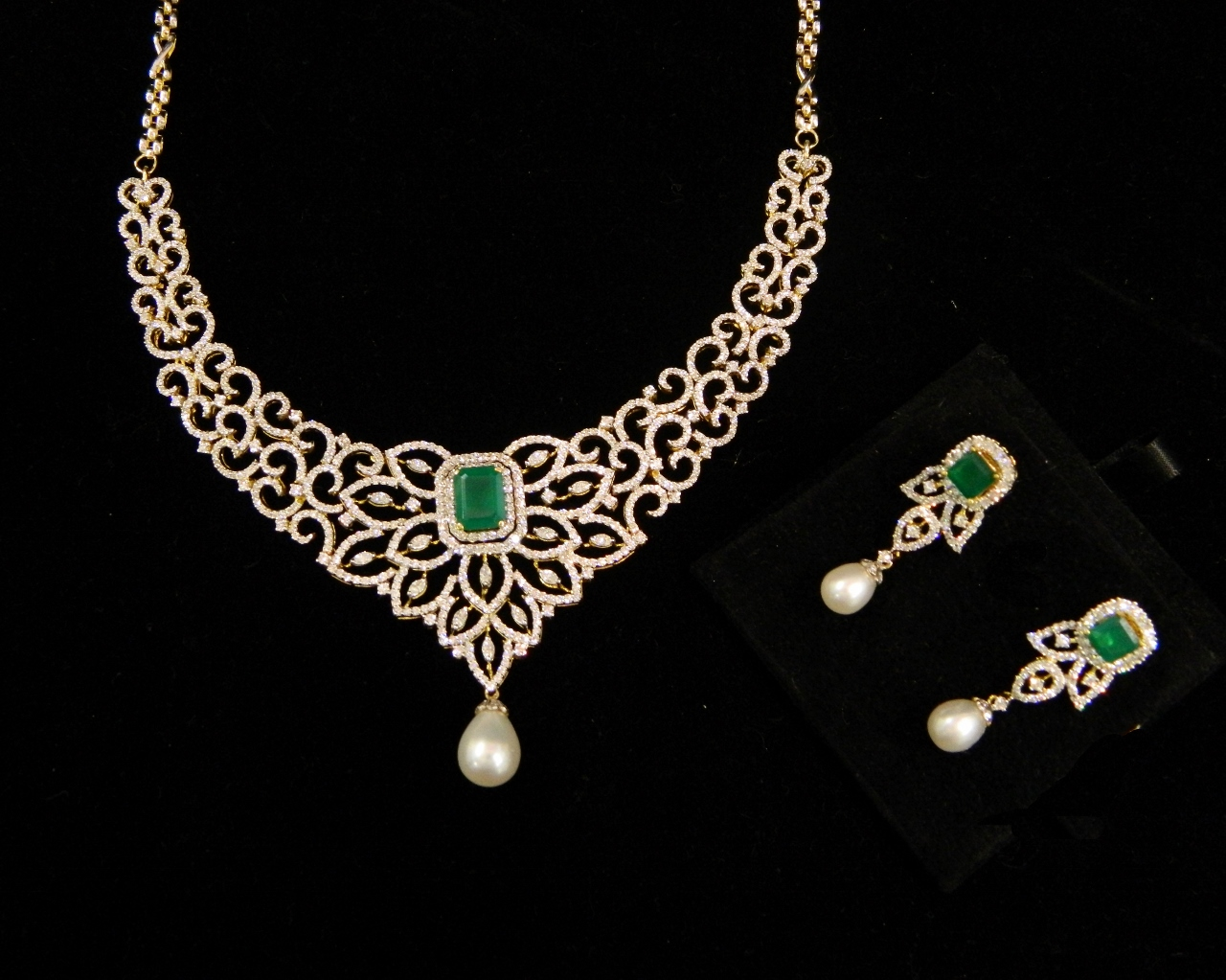 diamond necklace jewelry with vvs changeable set necklaces stones