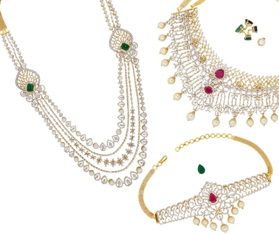Diamond Jewelry Diamond Necklaces Chockers Earrings Jhumkis