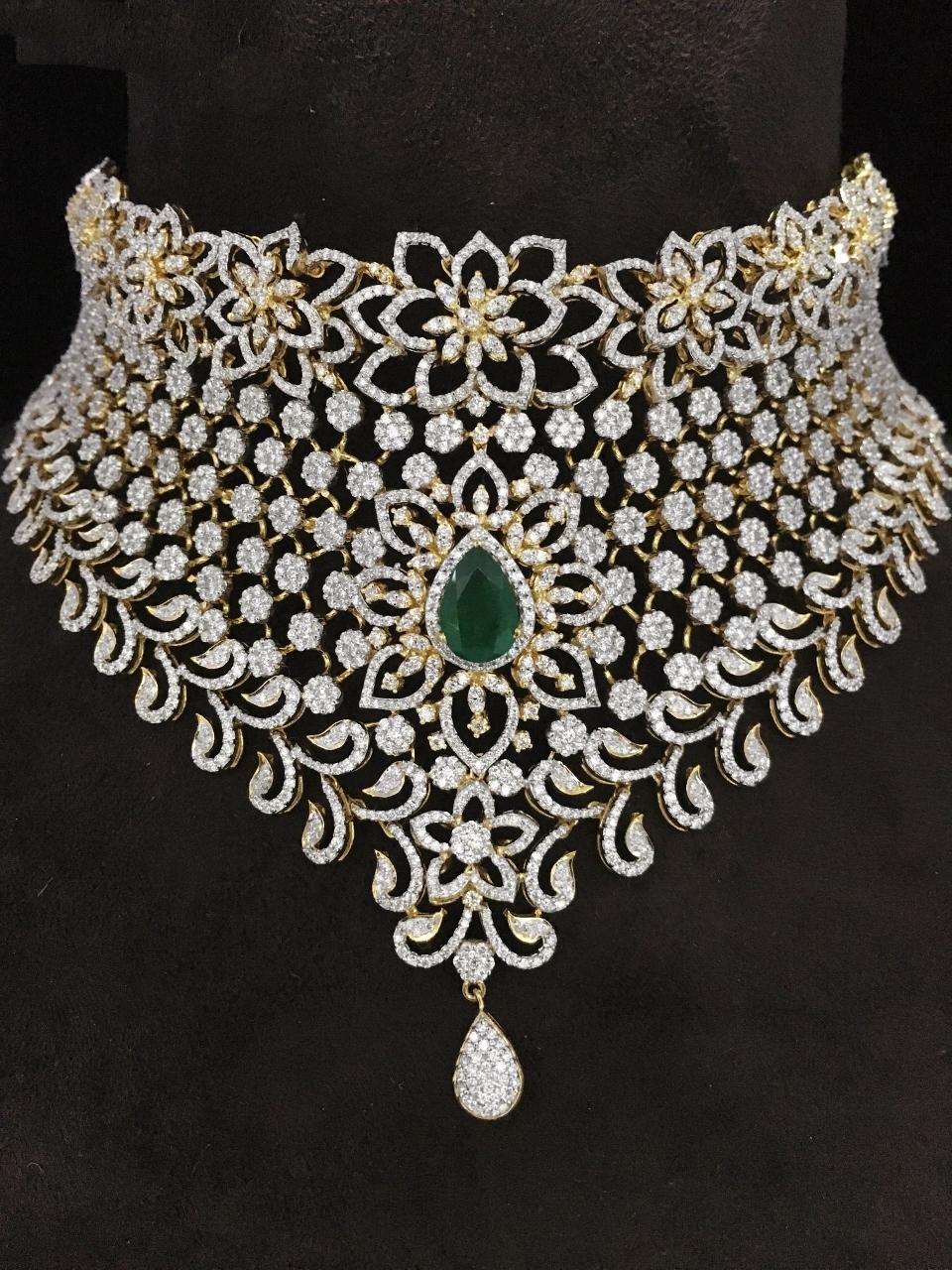 Bridal Heavy Choker Diamond Necklace