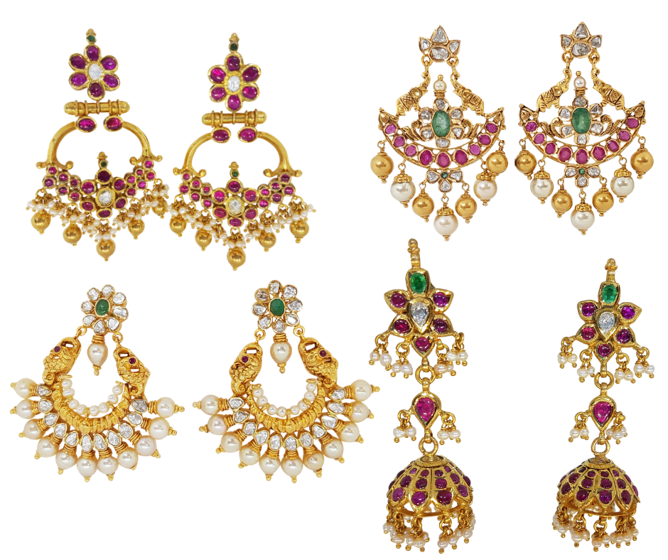 Gold Jewellery - Necklaces/Harams, Earrings/Jhumkis
