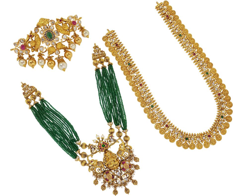 Gold Jewellery Necklaces Harams Earrings Jhumkis Chandbali Bangles Bracelets Nallapusalu Pendant Sets Vanki