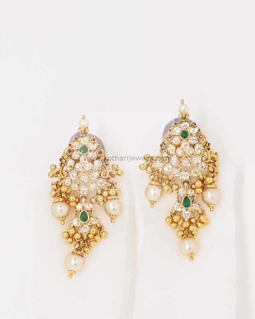 wm peacock earrings indian jewellery drop gold