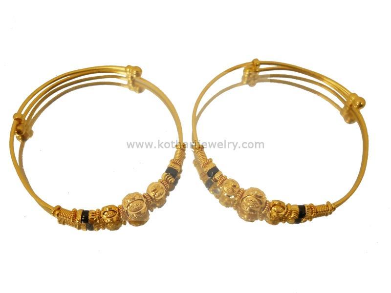 22 Karat Gold Baby Bangles