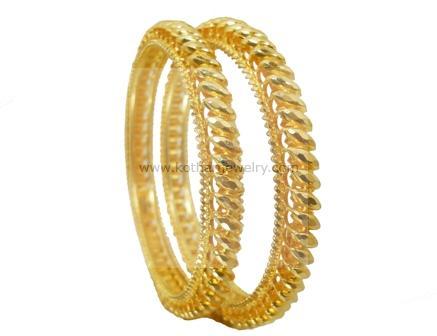 Gold Bangles 22kt Gold Machine Cut Bangles 22kt Gold