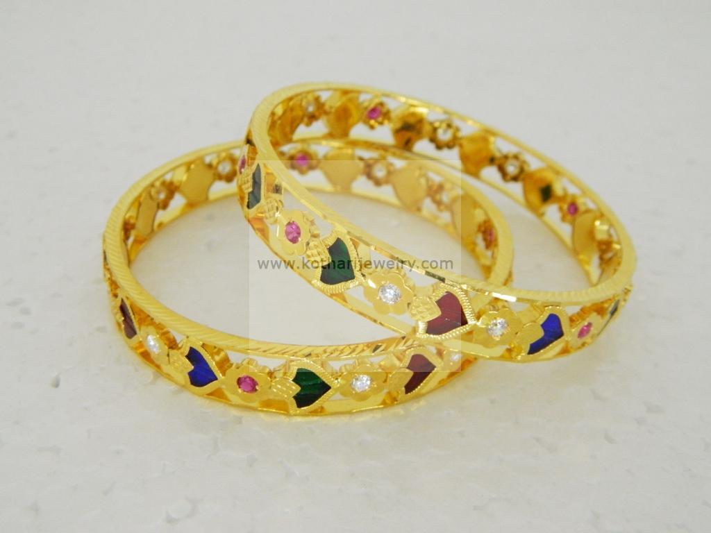 Gold Bangles - Antique Kundan Bangles, Antique Kundan Bangles ...