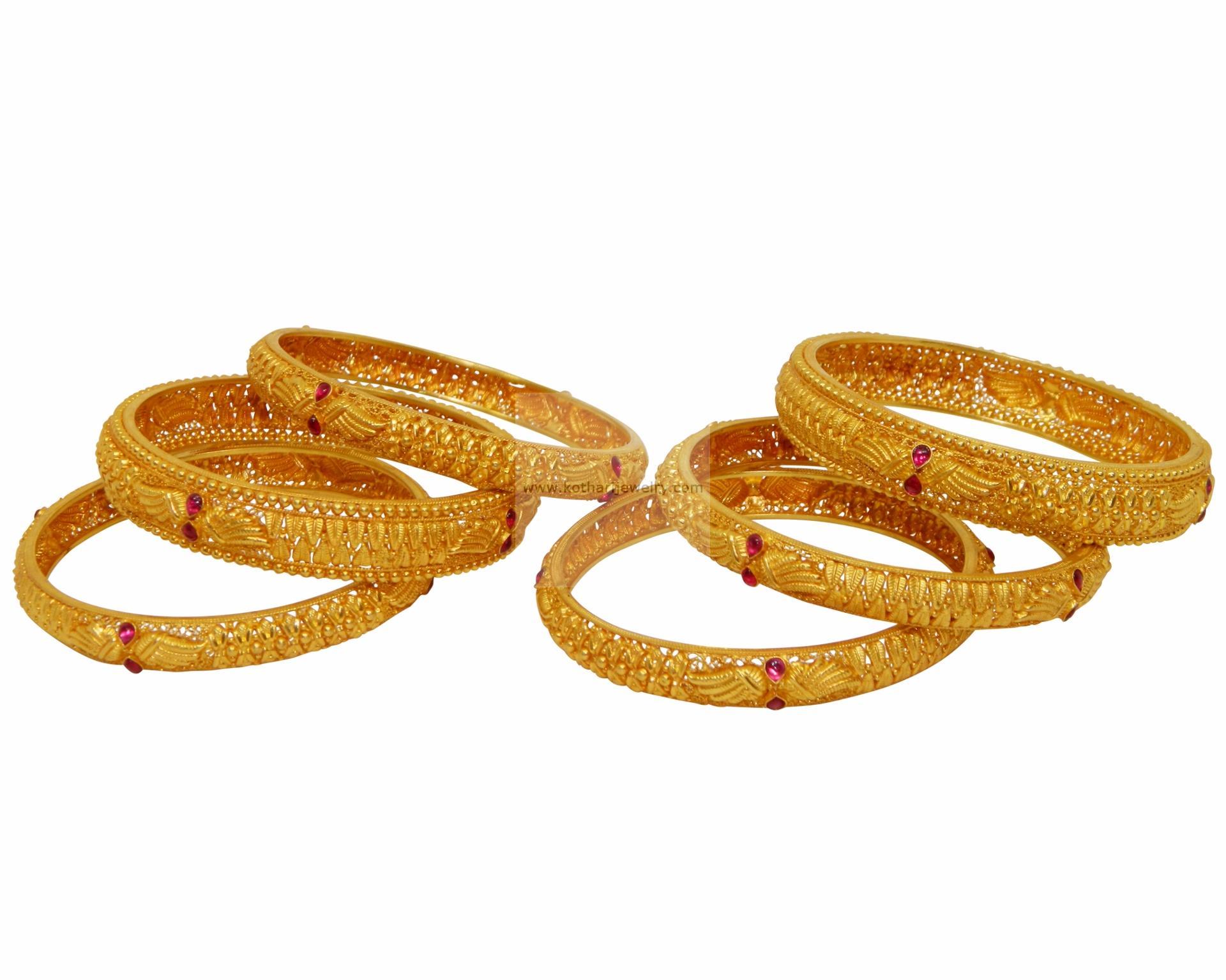 gold bangles 22kt gold bangles kolhapuri antique 22kt