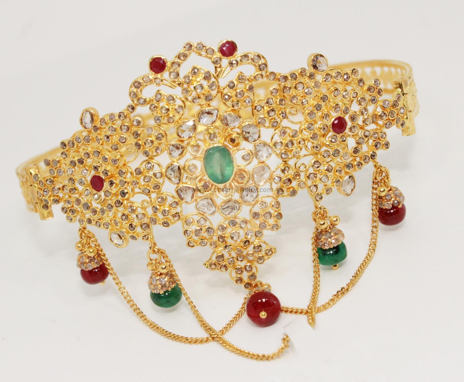 Gold Bracelet Gold Vanki Gold Bajubandh 22kt gold uncut