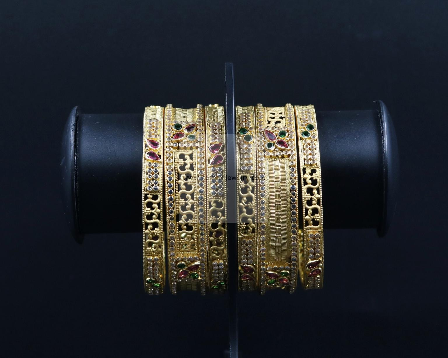 bracelets bangle antique bangles kundan gold product karat water