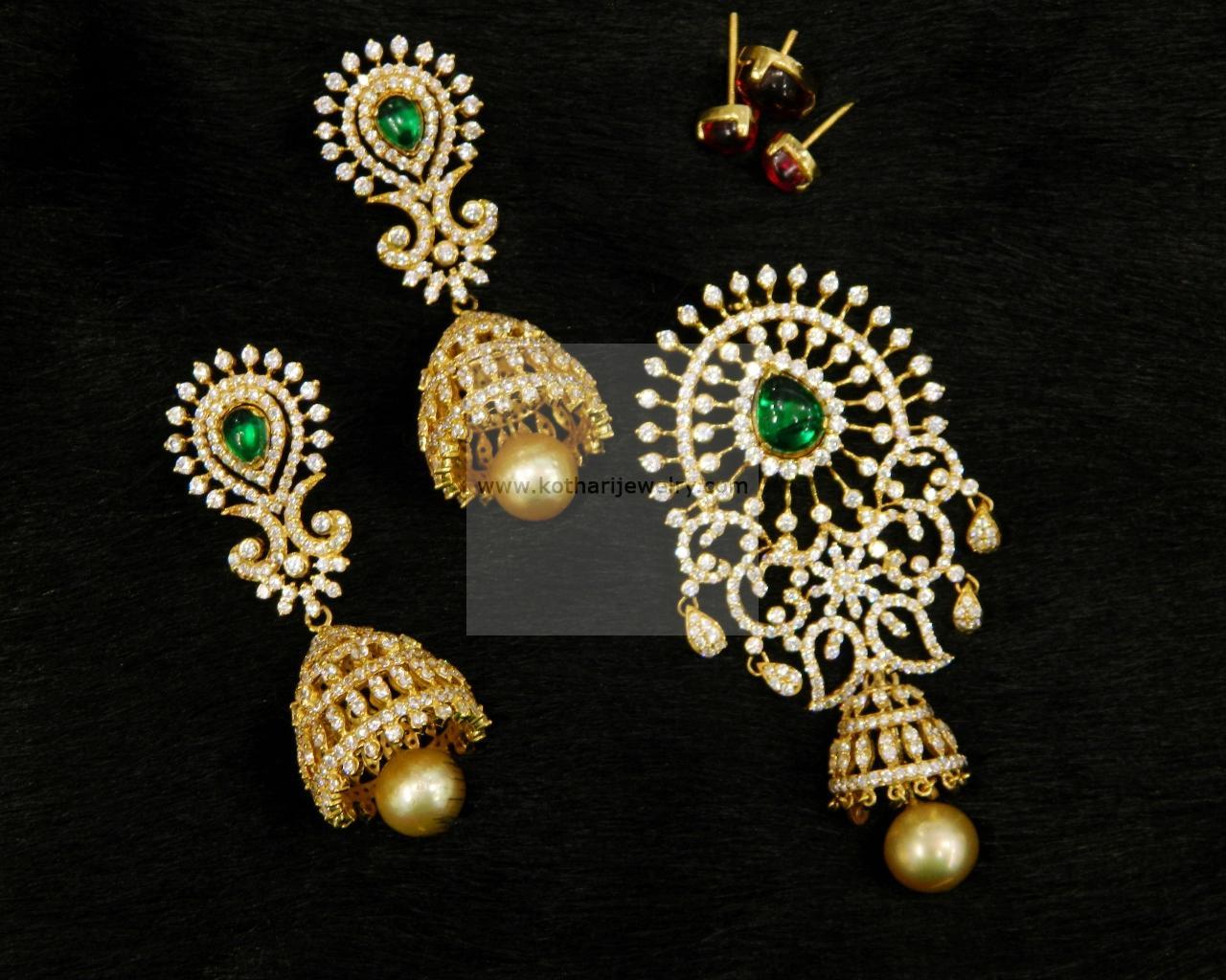 Gold pendant sets 22kt gold gajalskhmi pendant 22kt gold laxmi 18kt aloadofball Image collections
