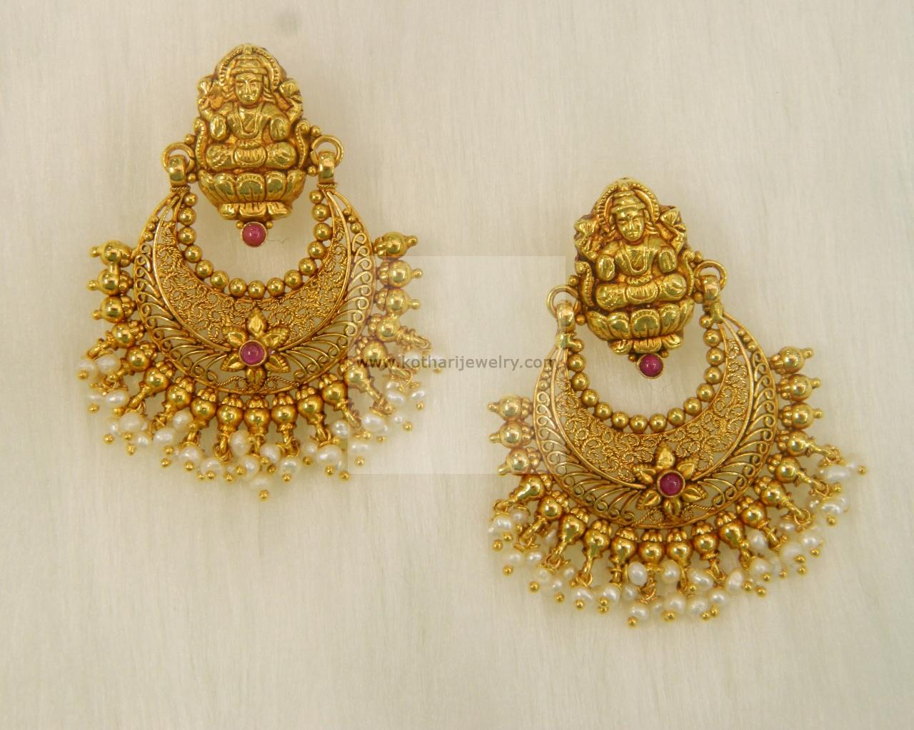 designs south lalithaa collections kumar gold women for jewellery earrings buy kiran indian