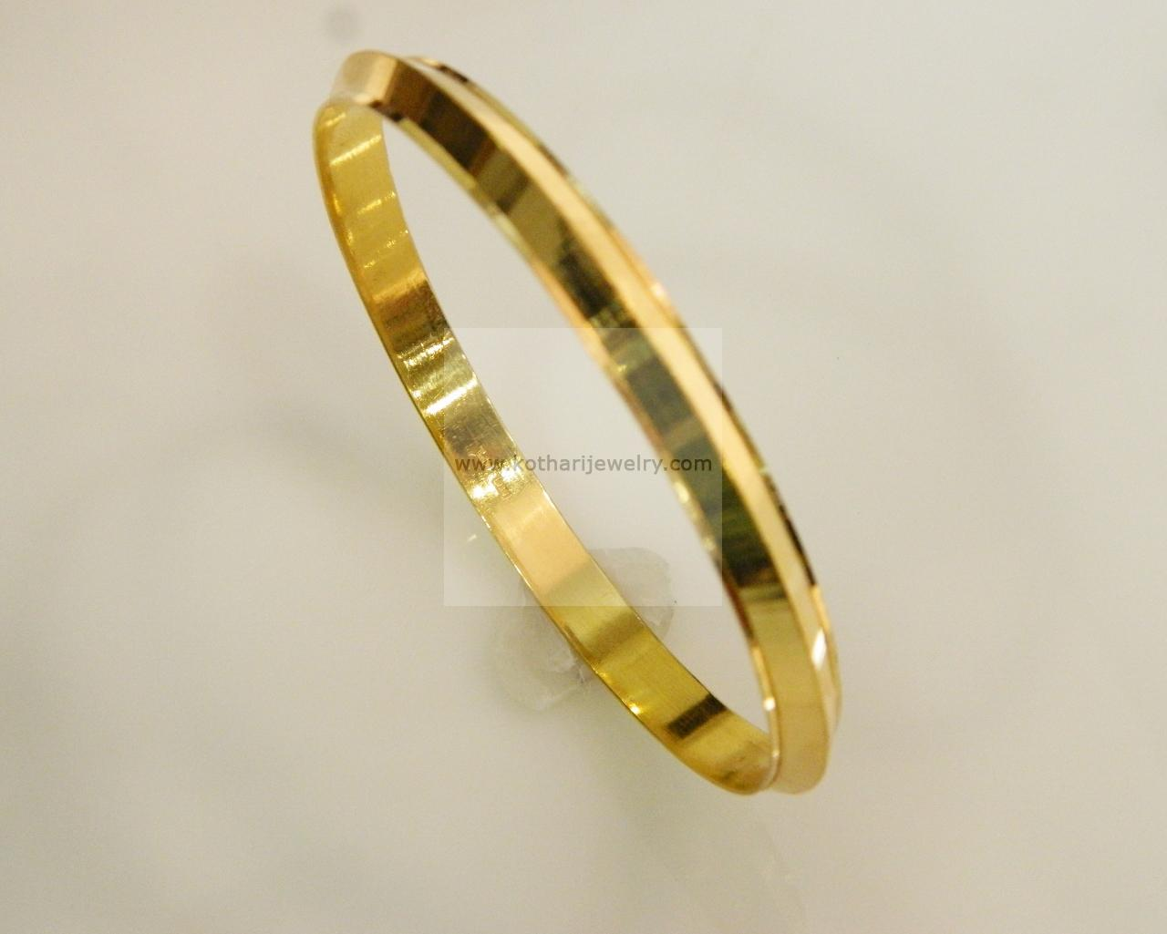 bangles bracelet simple com yellow jacknjewel plain delicate bangle gold