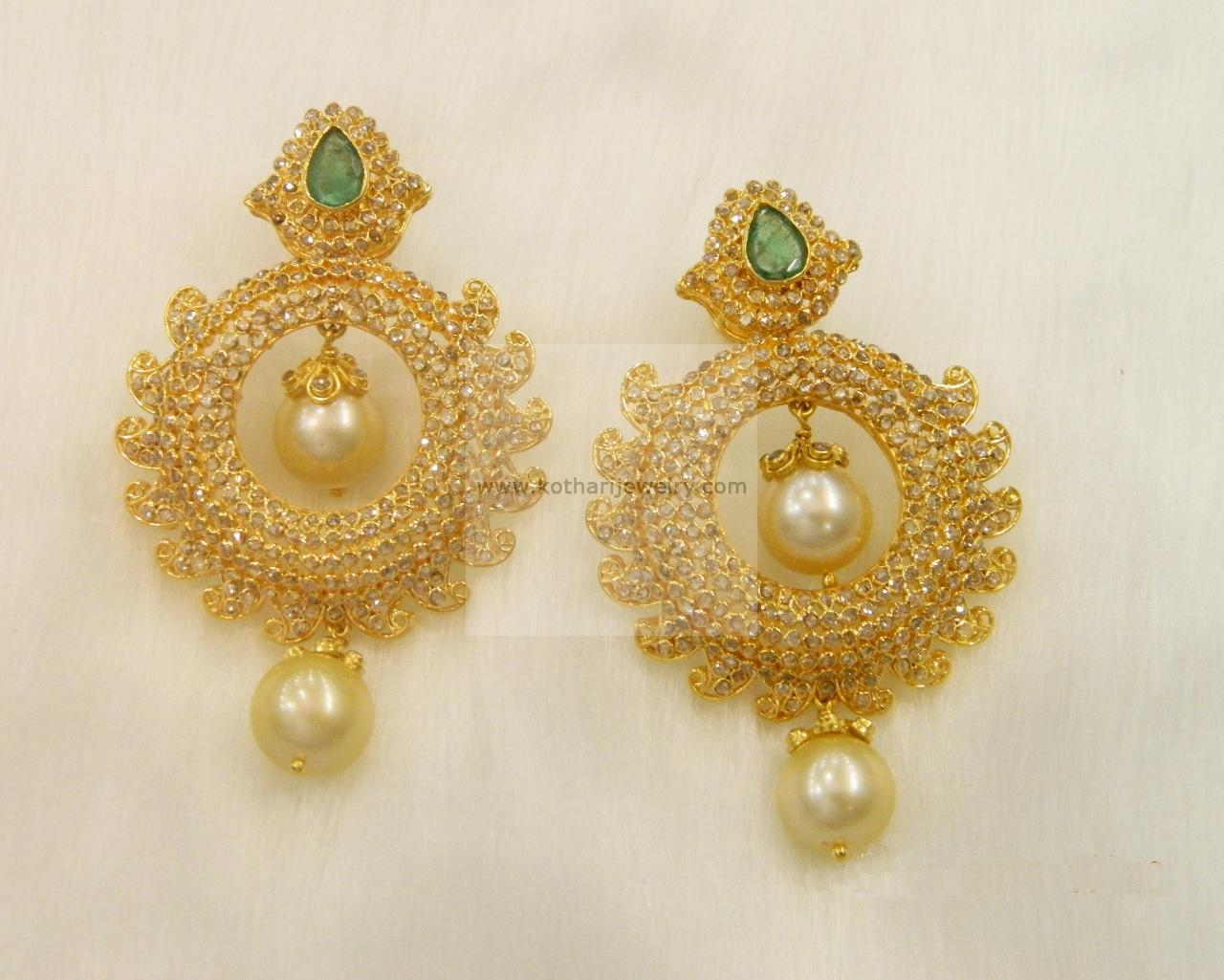 wm earrings gold stud jewellery studs pearl large indian