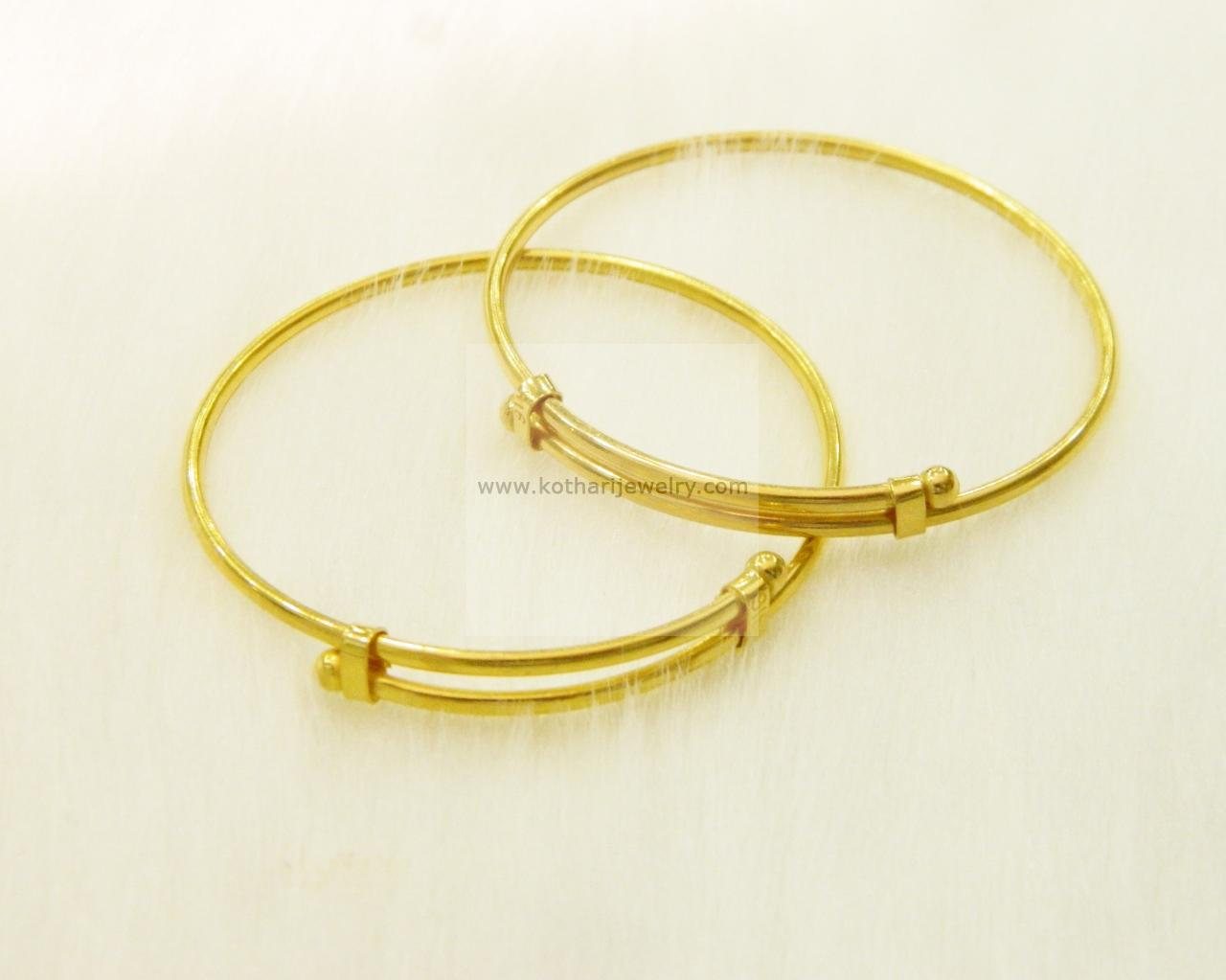 22kt Gold Baby Bangles