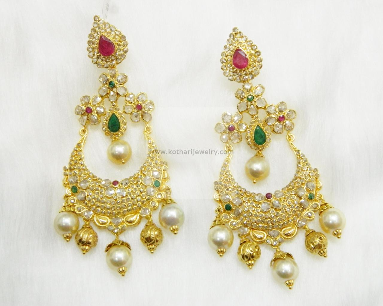 earring online earrings antara a golden necklace ring buy designs gold jewellery chandbali