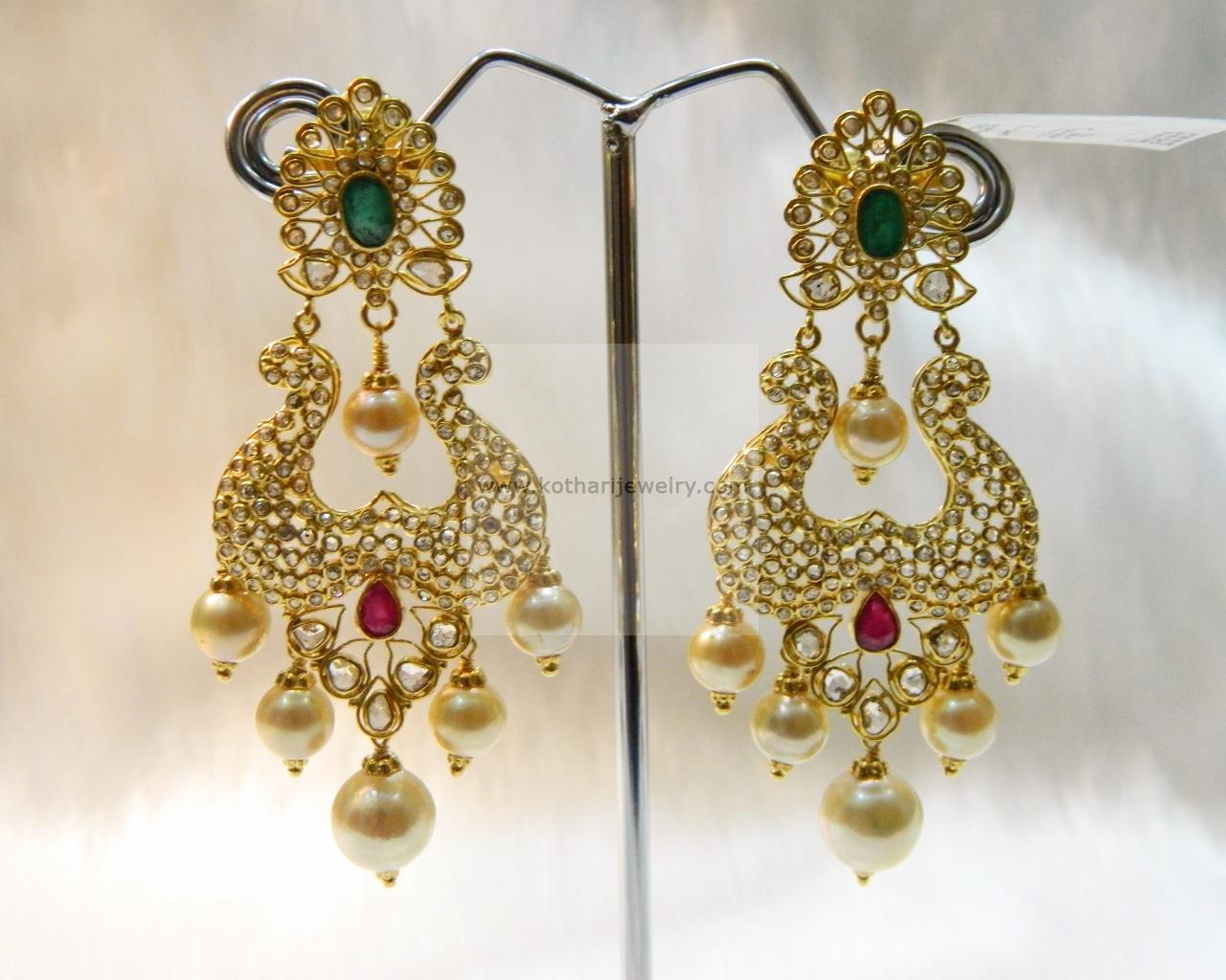 And contemporary gold jhumkas collection by khazana jewellery - 22kt