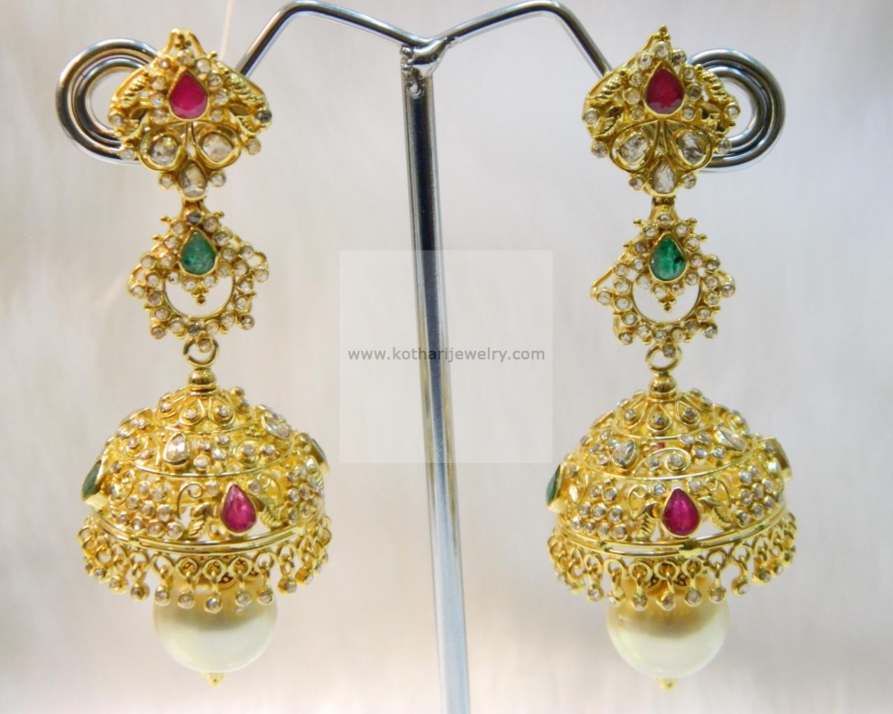 gold designs collections jewellery south earrings lalithaa buy indian