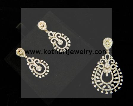 Diamond pendants designer diamond pendant set pearl diamond traditional design diamond pendant set djpam0086 big aloadofball Image collections