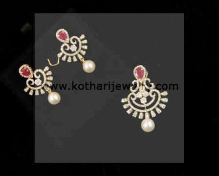 Andhra Diamond Pendant Set Pddia00006 Traditional