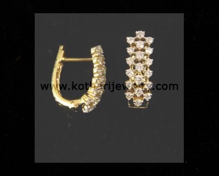 Indian Diamond Bali Earrings