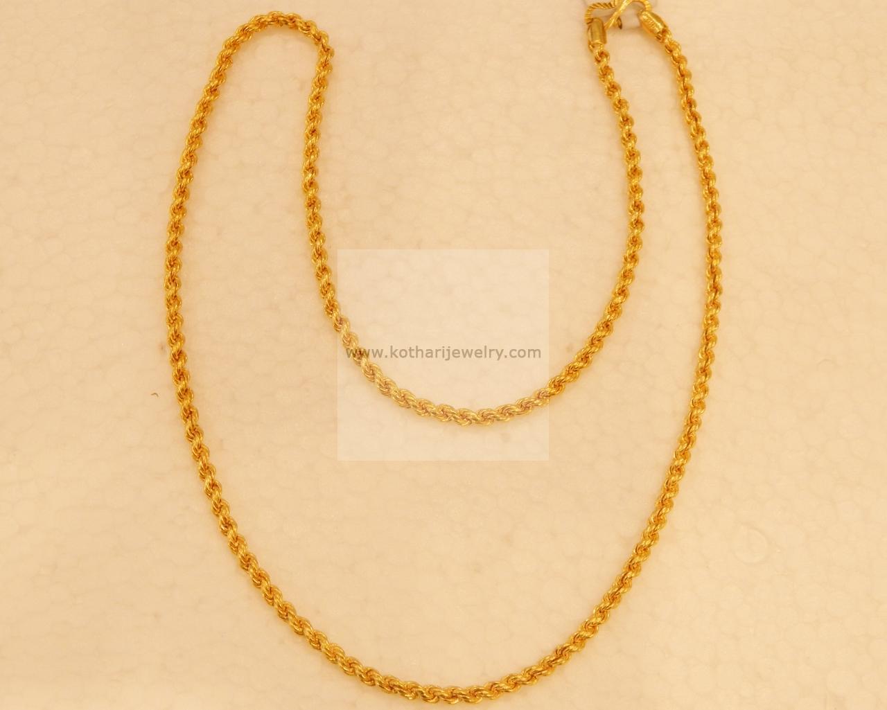 Female Gold Chain Design