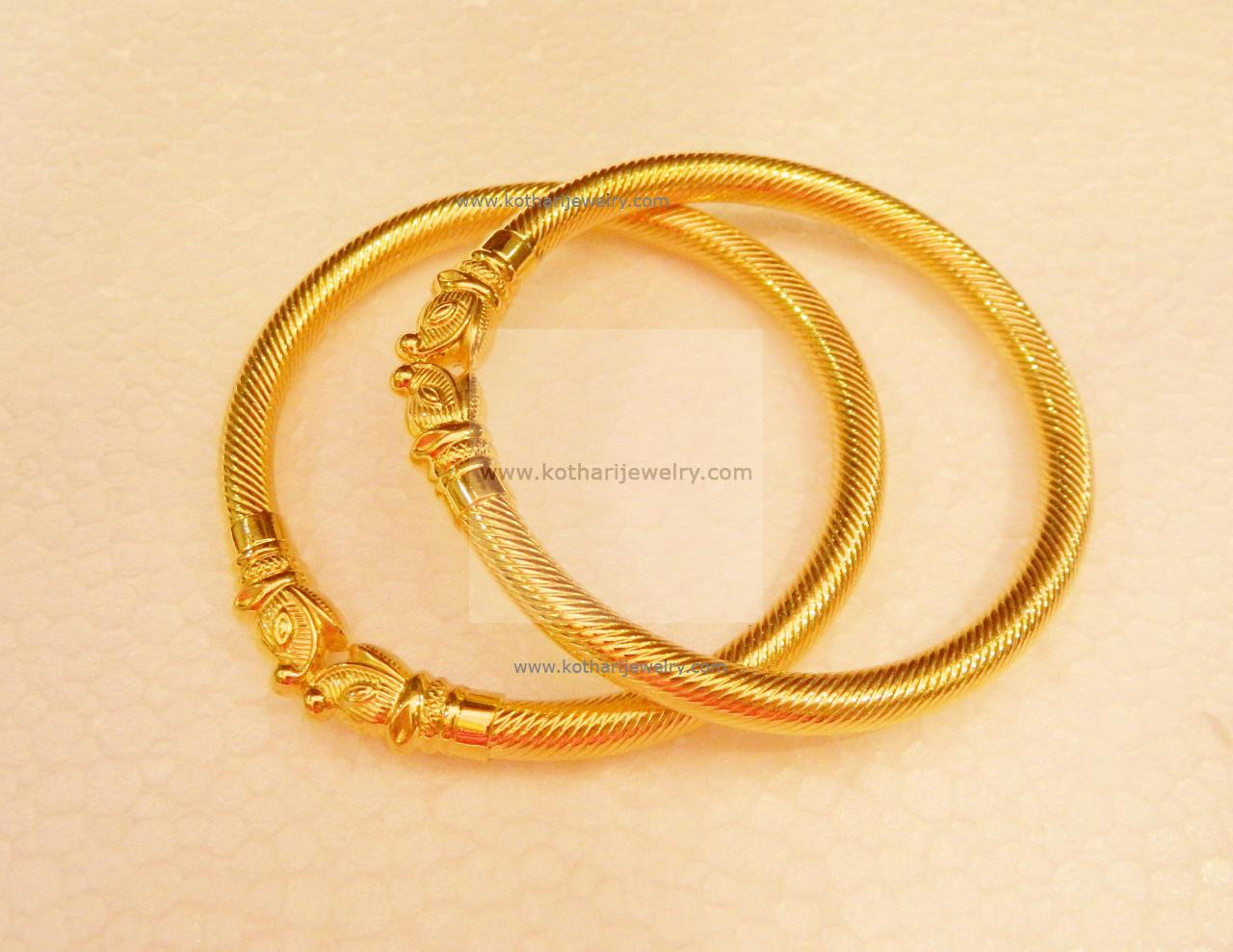 bangle lovely com jacknjewel bracelet gold plain bangles yellow