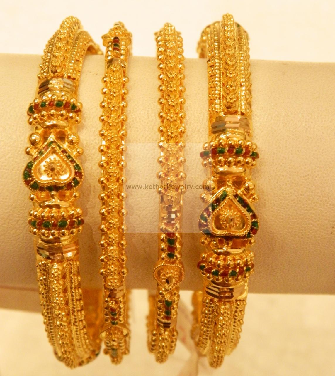 Traditional Kada Gold Bangles