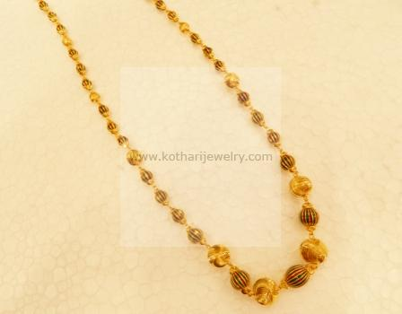 Gold Mangalsutra Multilayer Pearl Emerald Ruby Chain