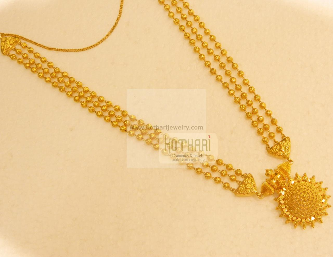 22k Plain Gold Long Haaram Mohan Maala