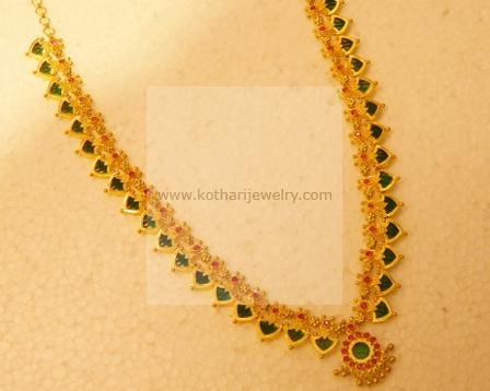 online model jewellery laxmi plated delicate brass coin necklace earrings gold img pendant temple fancy finish handmade