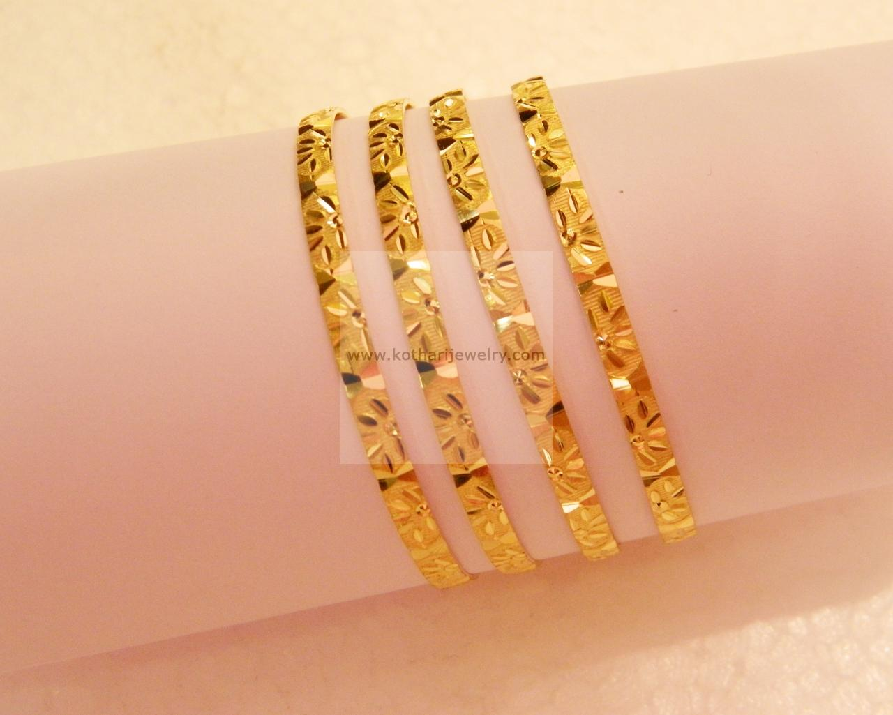 bangles amazon uk yellow gold jewellery co dp plain bracelet bangle carissima cut diamond