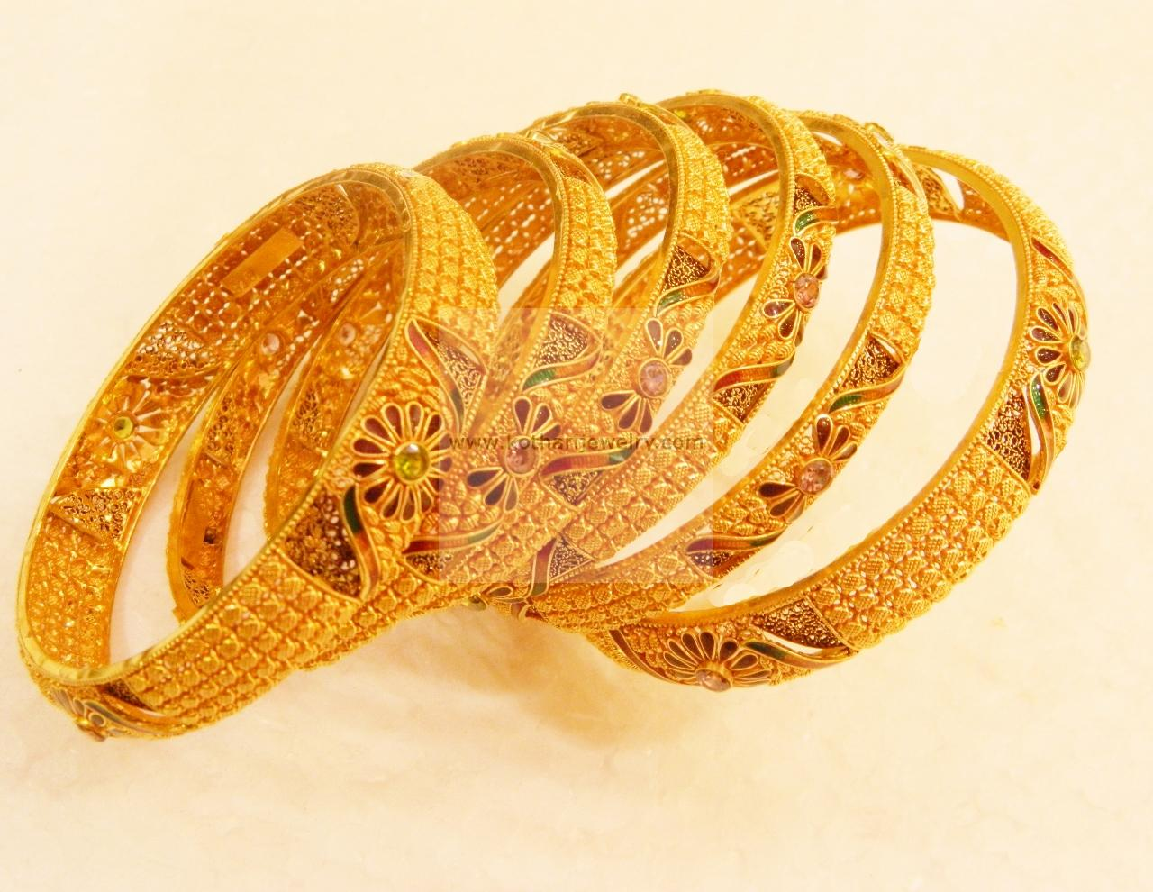 Wedding 22kt Gold Bangles Set