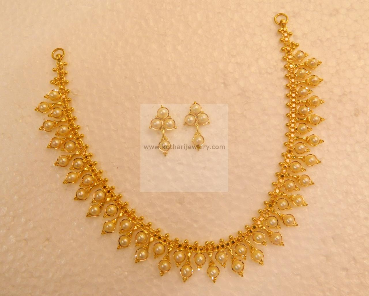 jewellery prem light weight mart fancy south necklace stone india jewels gold