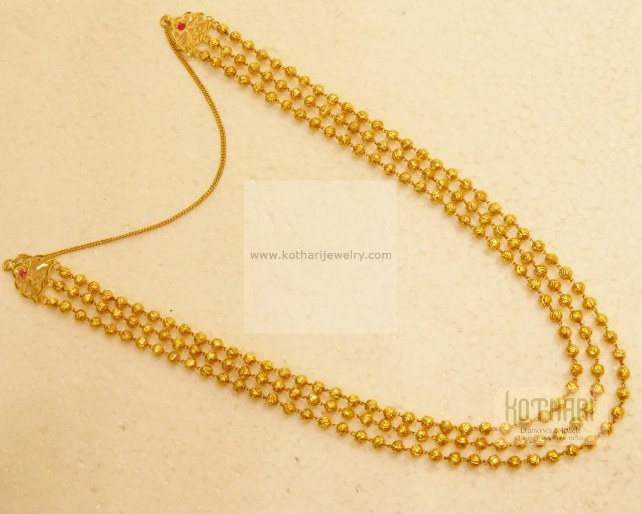 3 Line Chain Saradu In 22kt Gold