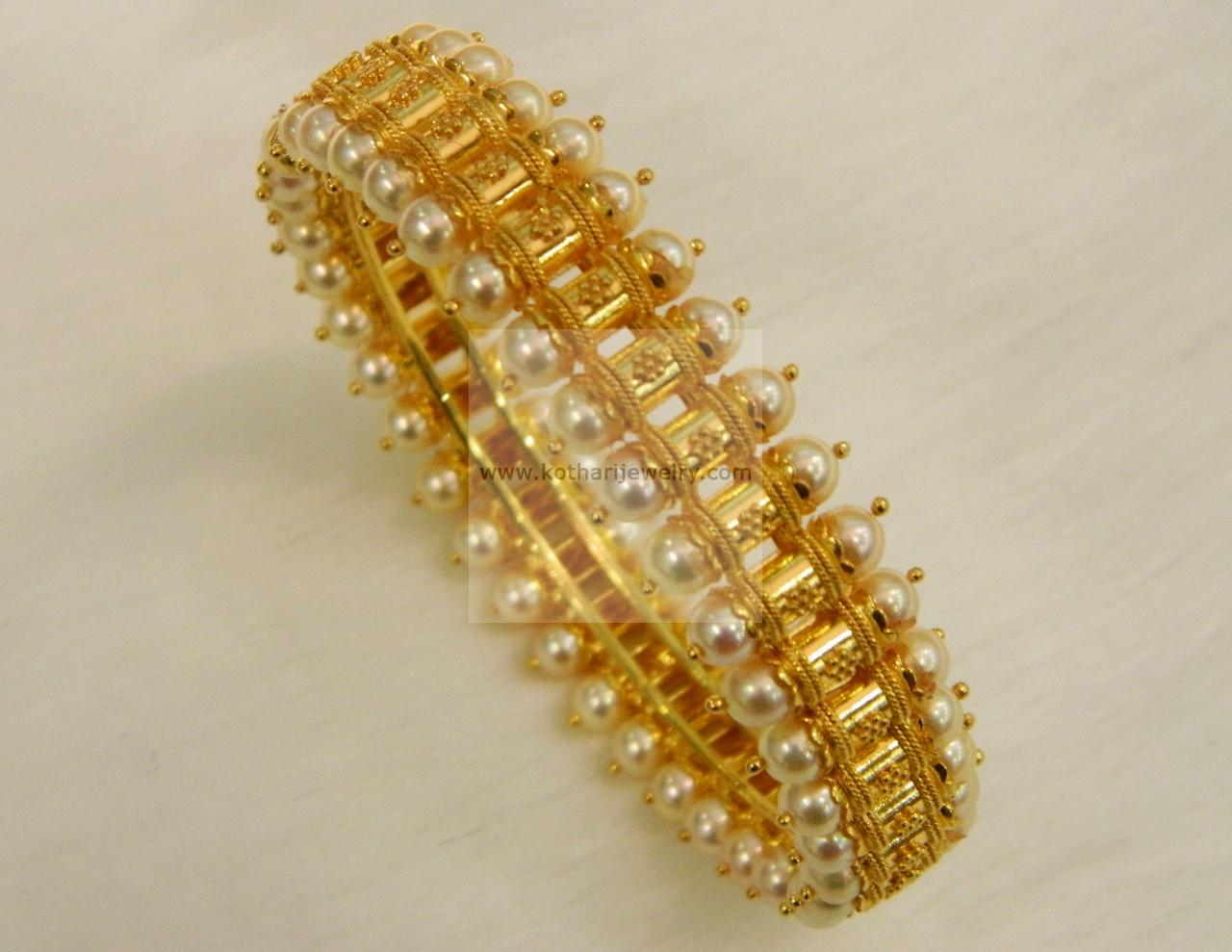 22kt Pearl Gold Bangle Kada