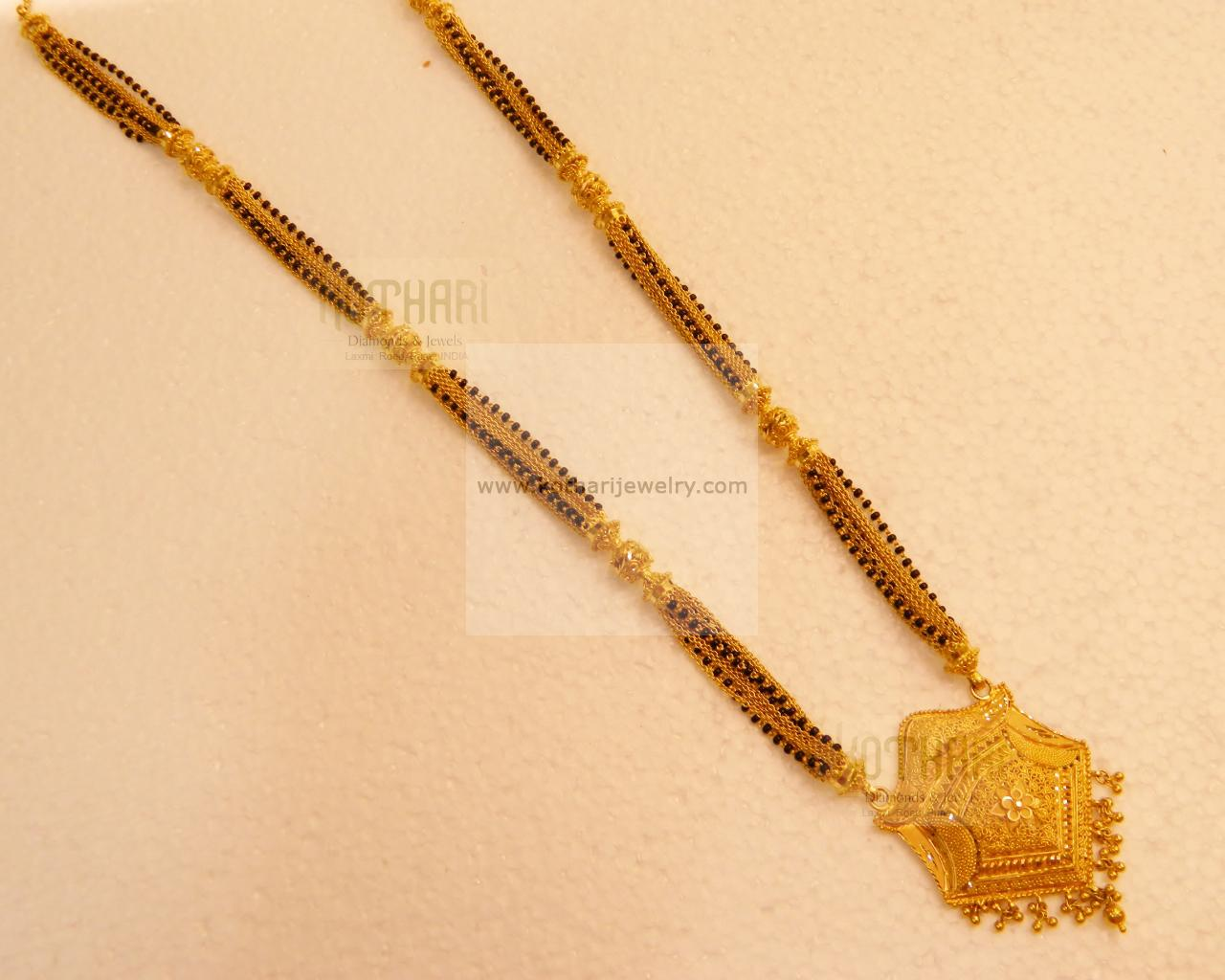 22kt long bridal gold mangalsutra