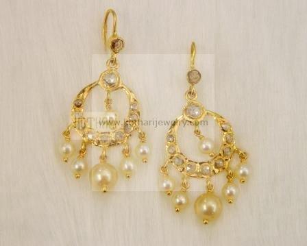 Gold Earrings Gold Rings 22kt gold jhumka Gold jhumka with
