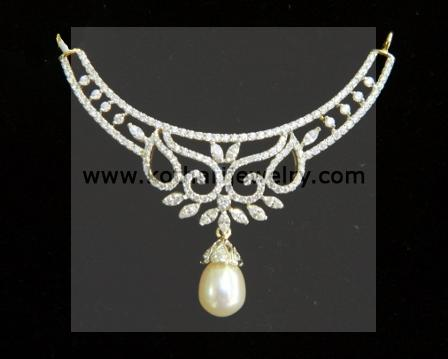 Diamond mangalsutra diamond mangalsutra tanmani diamond south indian diamond mangalsutra pendant tn06590074 18kt aloadofball Images