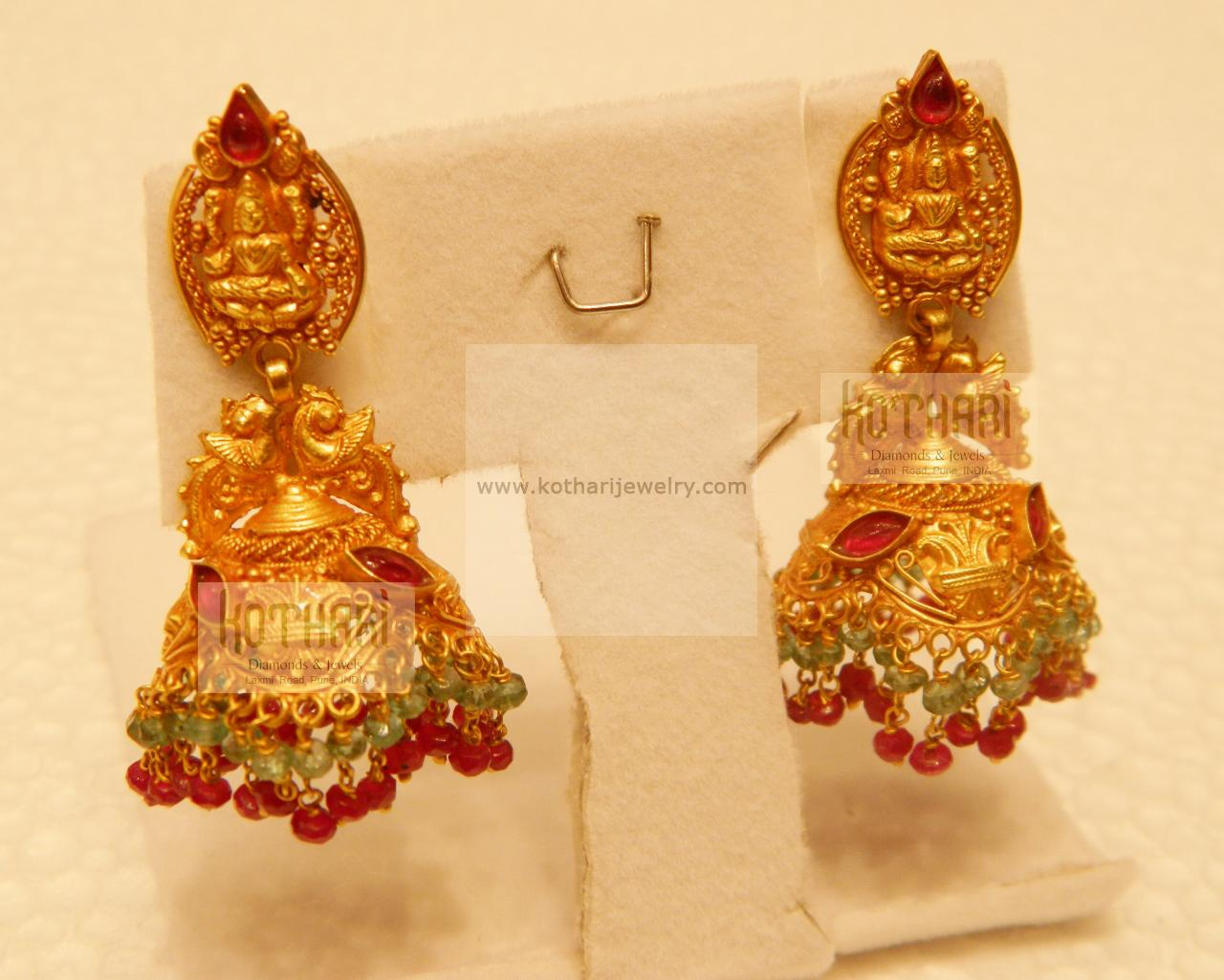 Antique Gold Earrings Designs With Price Gold Earrings