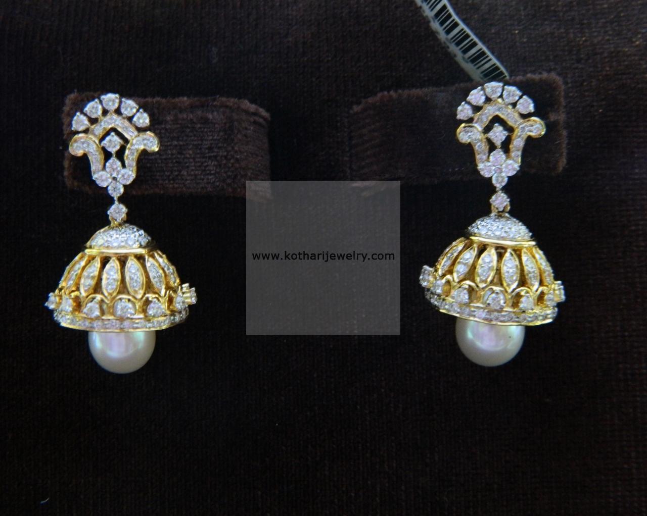 18kt South Indian Diamond Jhumki