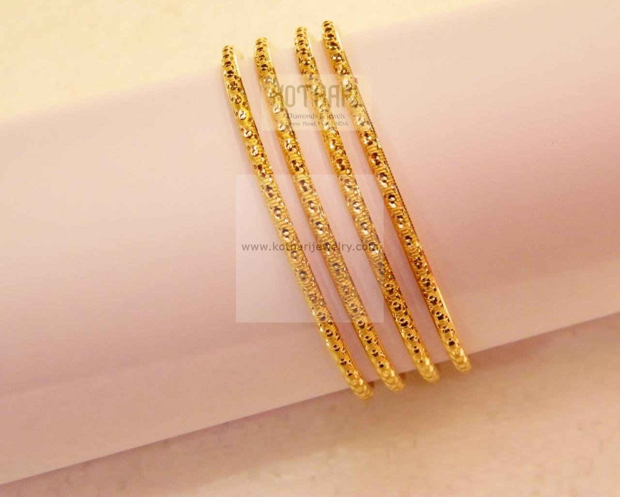 bracelet dp karat gold yellow bracelets jewelry bangle amazon bangles com