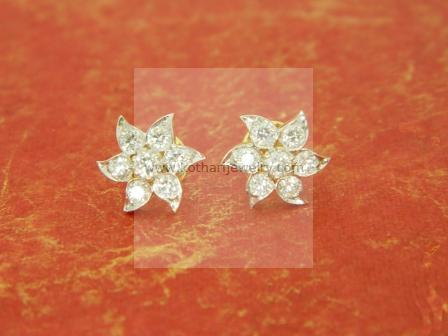 Diamond Studs Jhumkas Bali Bridal Chandbali Erdia00001 Nakshatra 7 Stone