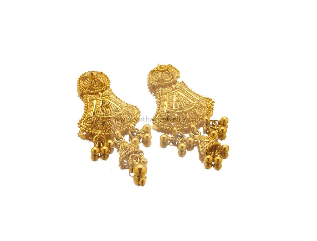 Fresh Gold Earrings Models for Daily Wear | Jewellry\'s Website