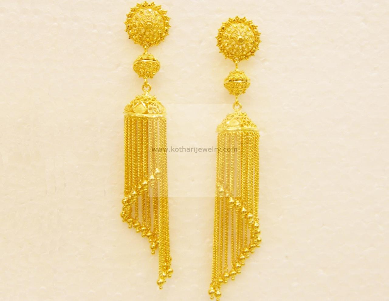 Modern Chain Jhumki Earrings