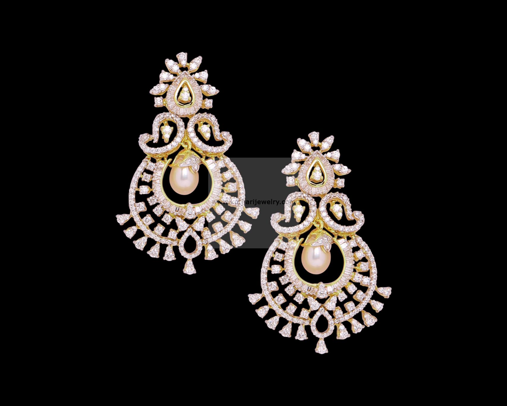 Designer Diamond Chandbali Erdia00003