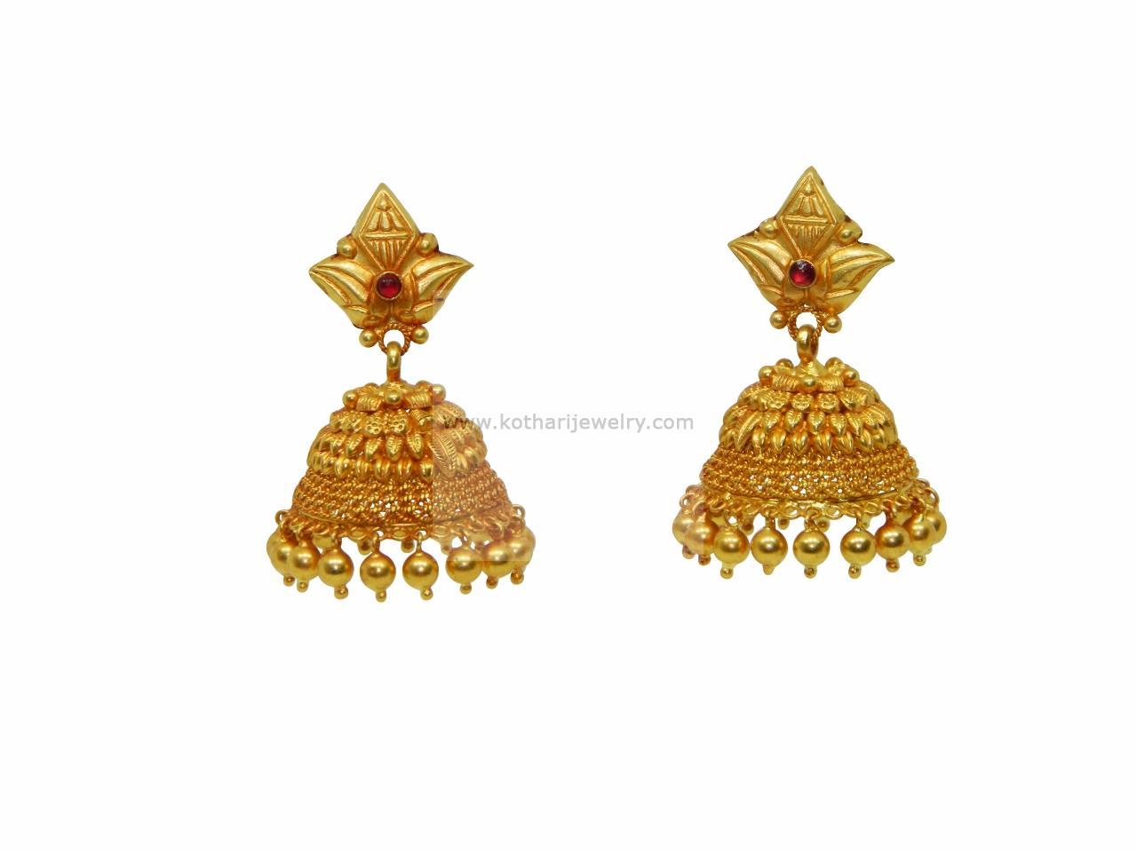 gold earrings gold rings 22kt gold jhumka 22kt gold